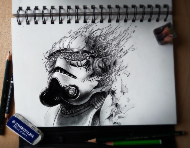 dibujos a lápiz trooper