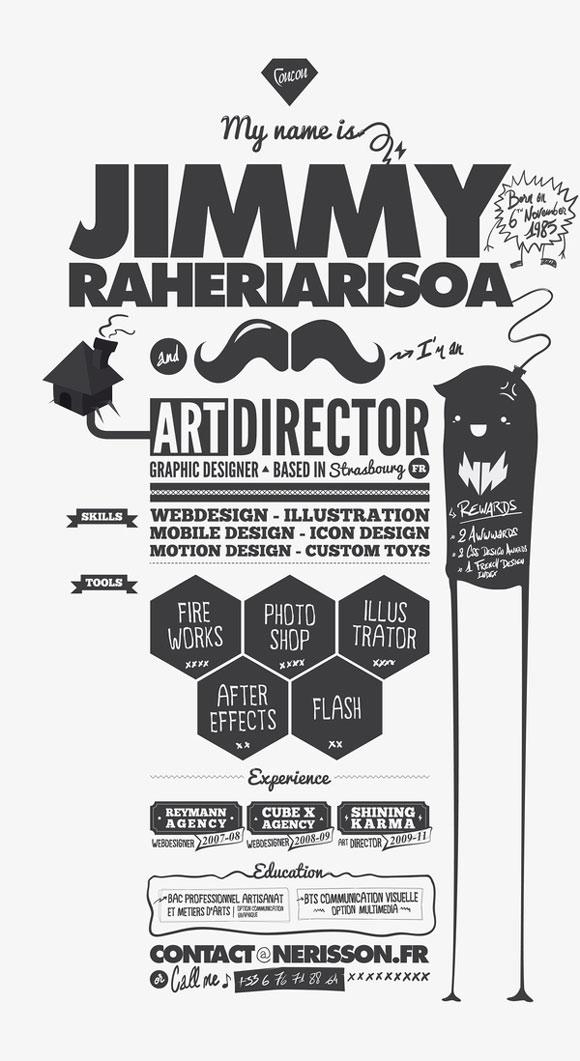 diseño de currículum director de arte