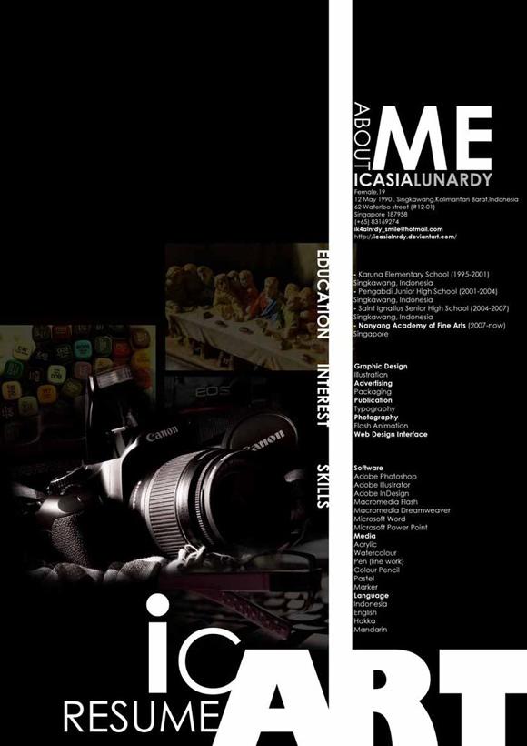 diseño de currículum fotografo