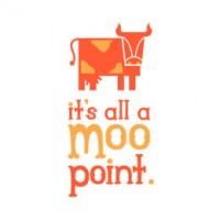 diseños de logos its all a moo point