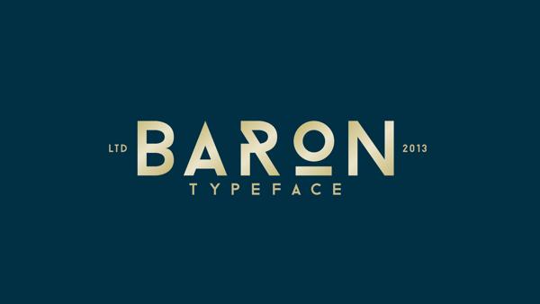 Fuentes Sans Serif gratis Baron