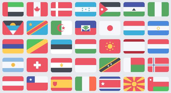 iconos de banderas PSD gratis