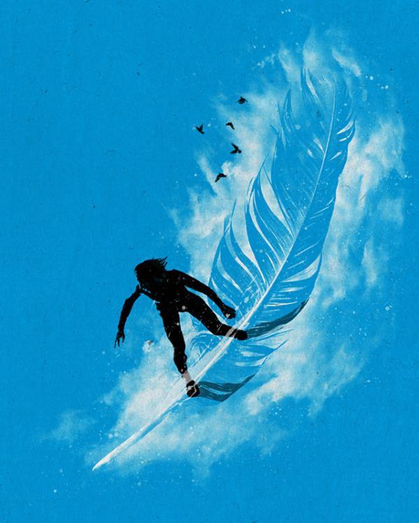 ilustracón de surf