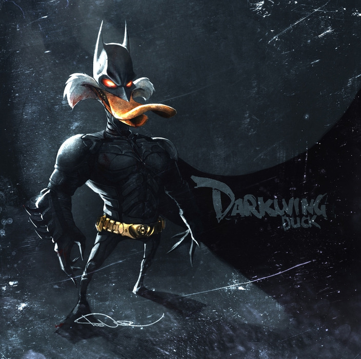 ilustraciones 2D darkwing duck