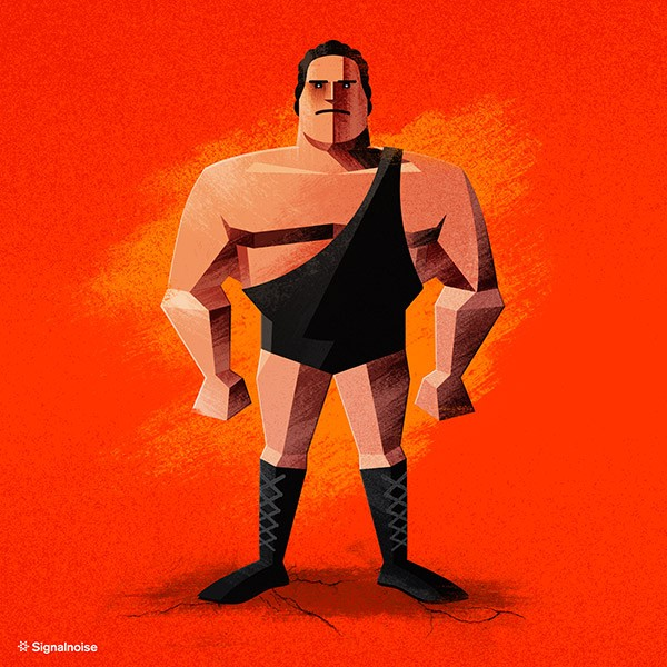Ilustraciones estrellas de la WWE the giant
