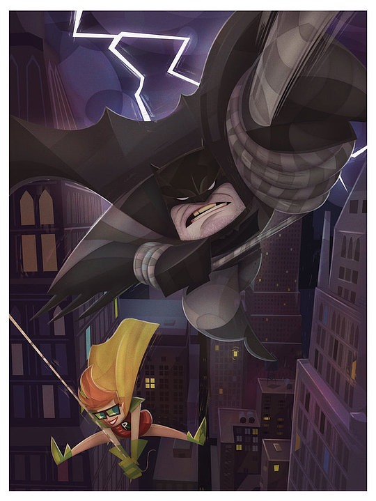 ilustraciones digitales batman