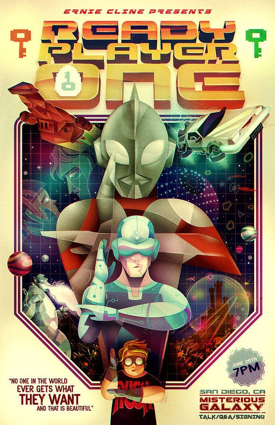 ilustraciones digitales poster ready player one