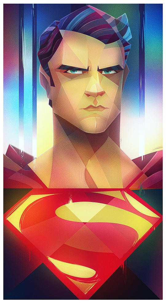 ilustraciones digitales superman