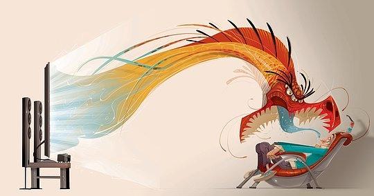 ilustraciones dragon sale de la tele