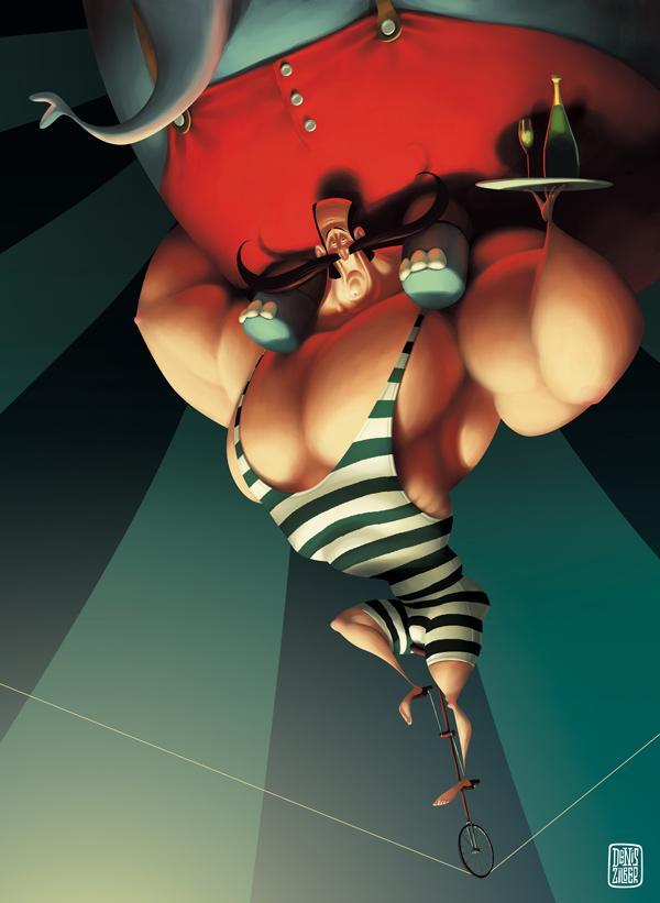 ilustraciones el circo