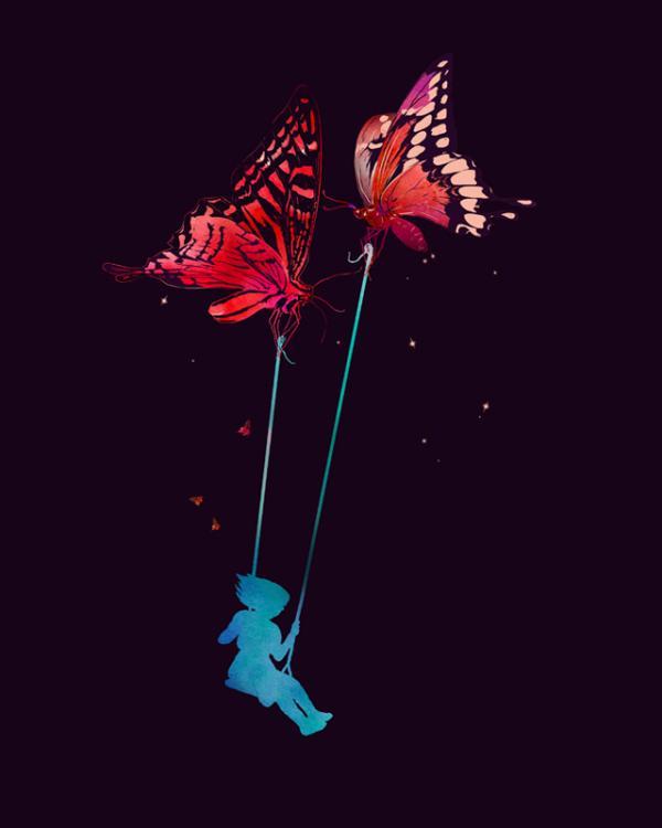 ilustraciones mariposas gigantes