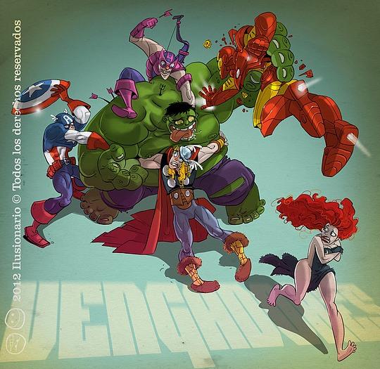 ilustraciones superheroes