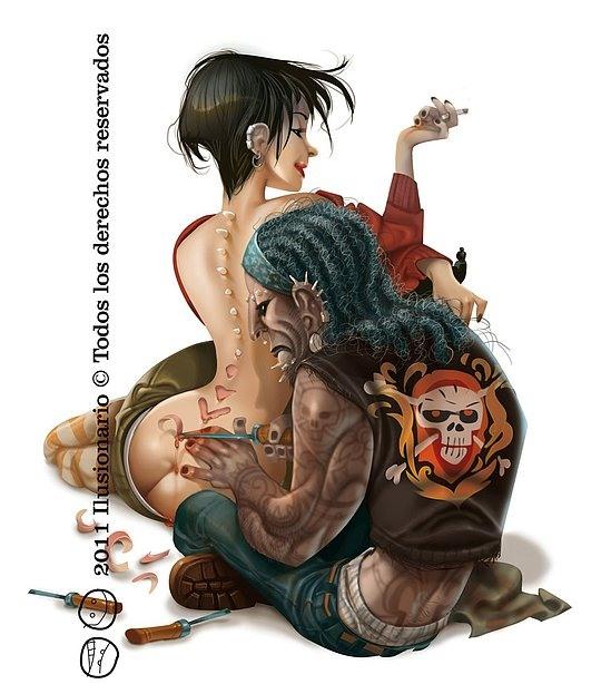 ilustraciones tatuadores