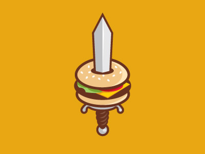 Diseños de logos con hamburguesas Burger Blade