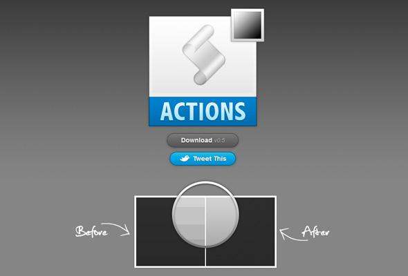 Acción Photoshop para eliminar barras en degradados