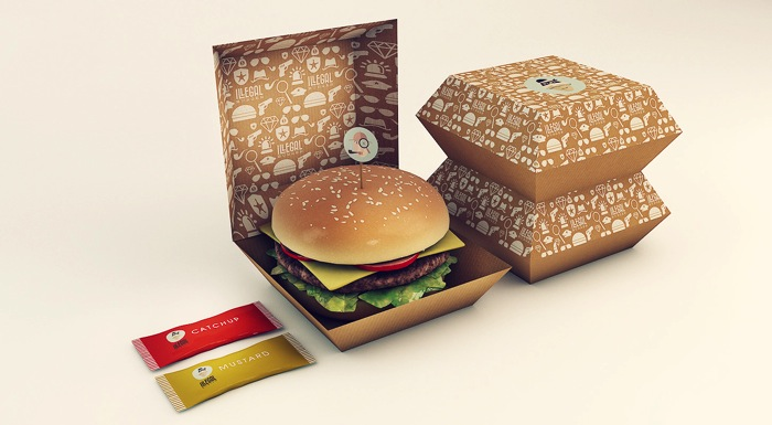Packaging hamburguesas