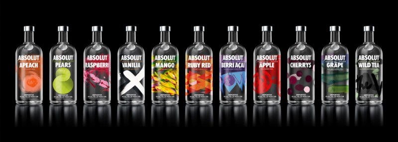 Nuevos diseños de packaging Vodka Absolut