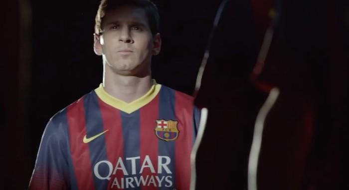 publicidad de Qatar Airways y FC Barcelona