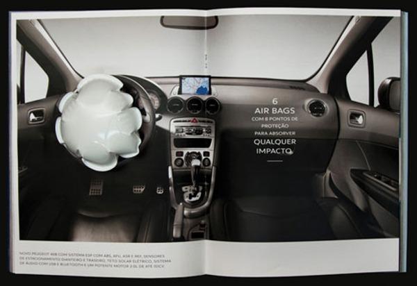 Galería de publicidad creativa en revistas Bolsas de aire