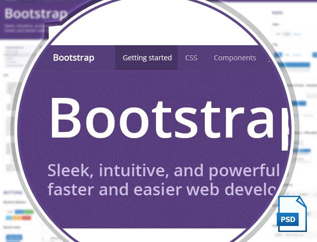 Elementos de Bootstrap 3 en PSD