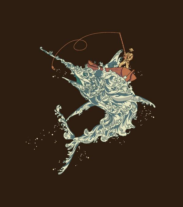 Ilustraciones pez espada