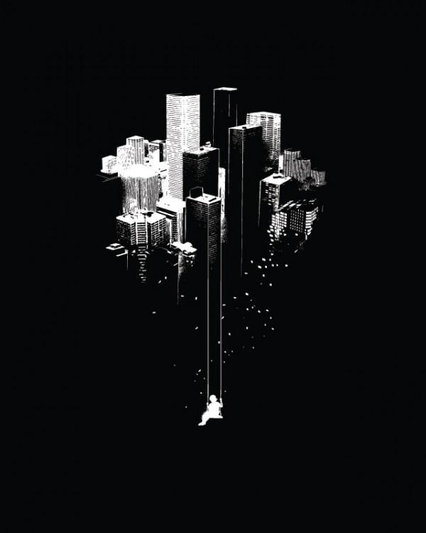 Ilustraciones para playeras rascacielos