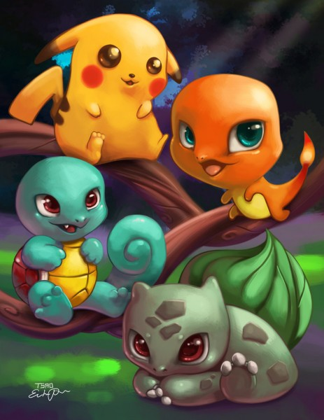 Ilustraciones pokemons bebes