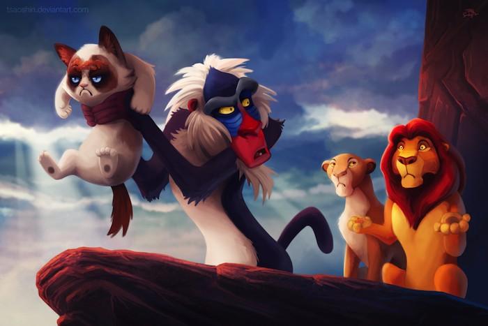 Ilustraciones rey y el leon