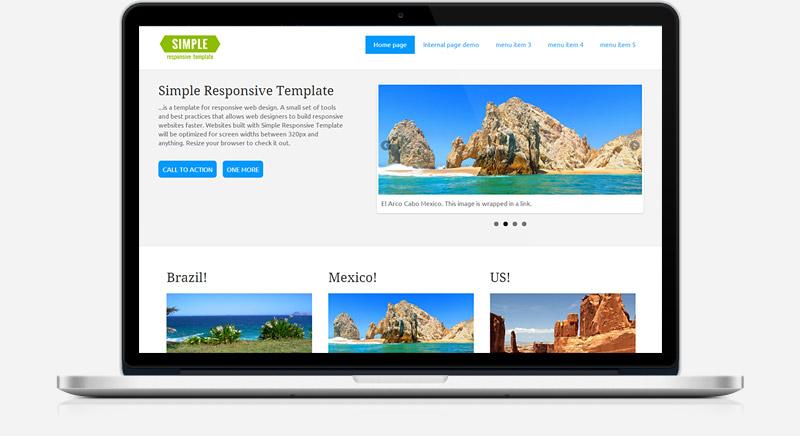 Simple: Plantilla web minimalista y responsiva gratis - Frogx Three