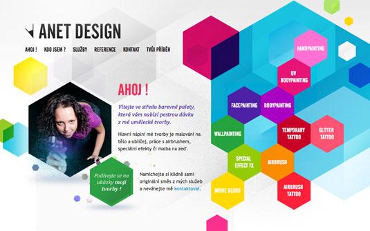 navegación web creativa e innovadora Anet Design