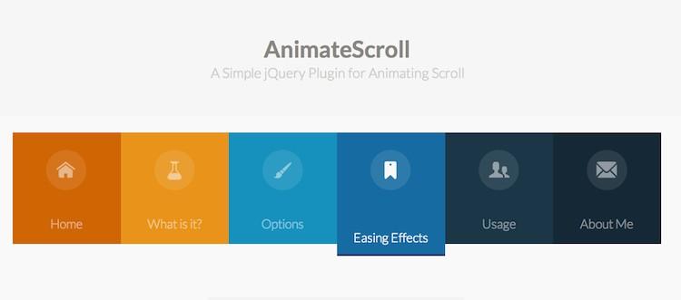 agregar efectos animados al Scroll animatescroll