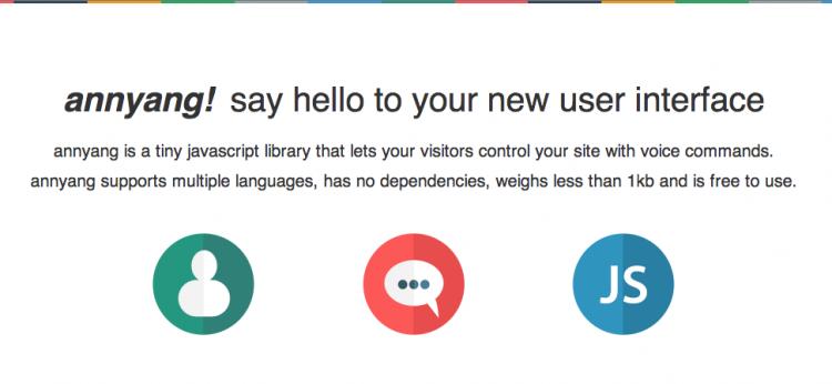 librería JavaScript para reconocimiento de voz