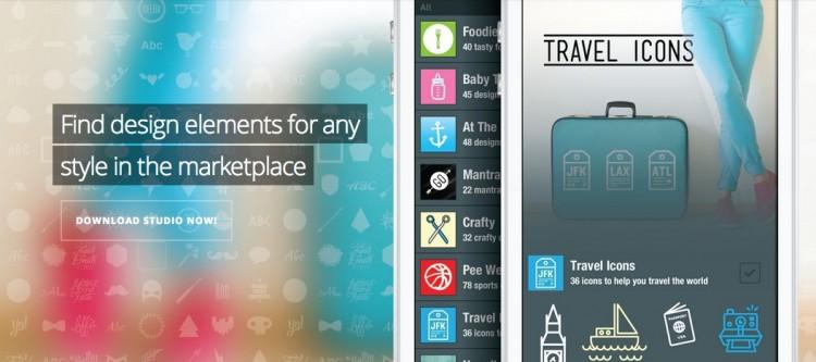 Studio aplicación de iPhone para diseñadores