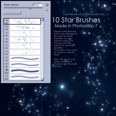 10 Brushes de estrellas