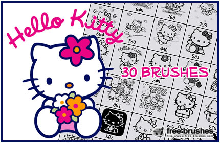 30 Brushes de Hello Kitty