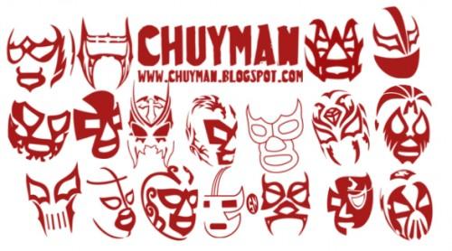 Brushes de mascaras de luchadores
