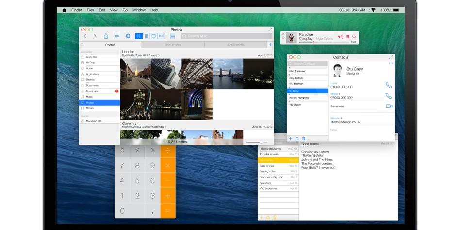 Concepto de Mac OS X inspirado en iOS7