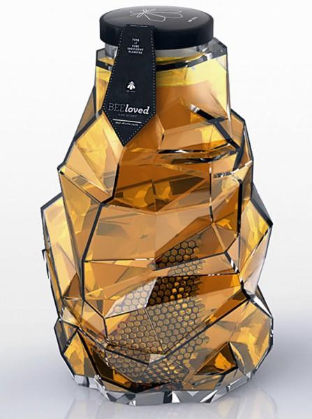 Imágenes de empaques creativos BeeLoved Honey