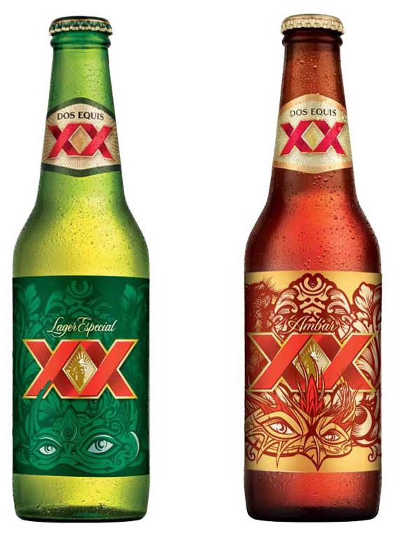 diseños cervezas XX Lager