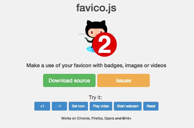 animar y agregar badges a los Favicons