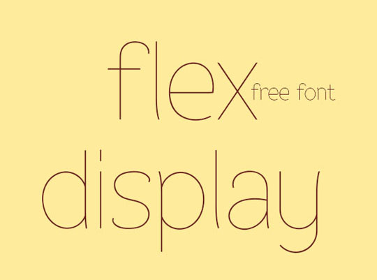 Fuente Flex Display