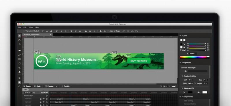 google web designer, aplicación para crear animaciones web