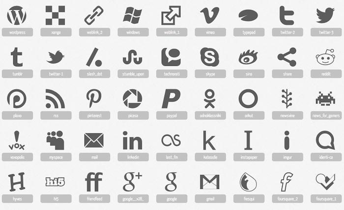 Iconos para paginas web gratis