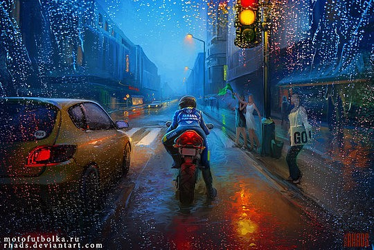 ilustración moto