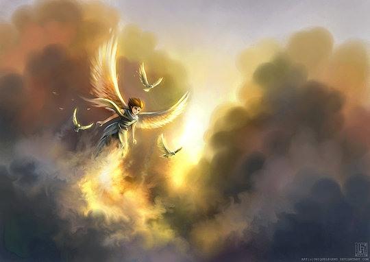 ilustraciones conceptuales angel