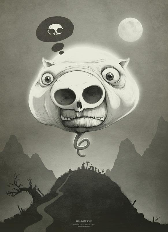 ilustraciones cabeza de puerco
