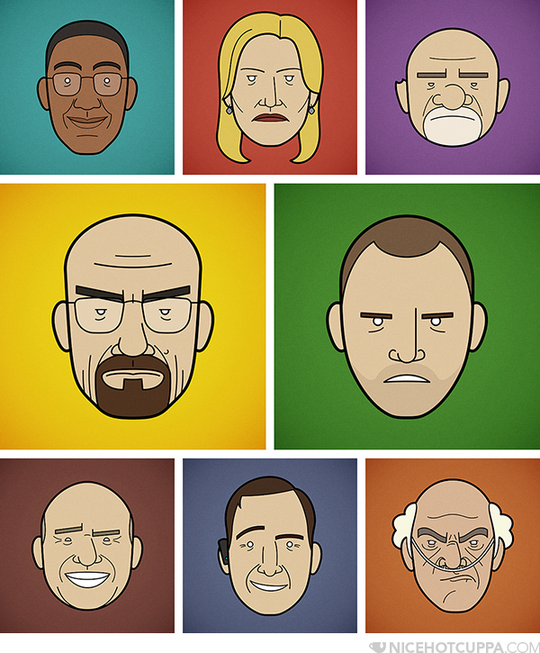 Ilustraciones de la serie Breaking Bad, Por Rob Barrett de Londres