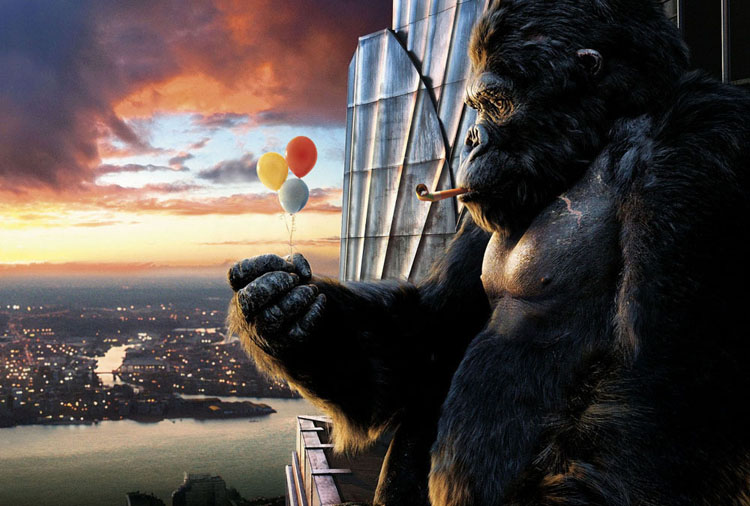 ilustraciones digitales king kong