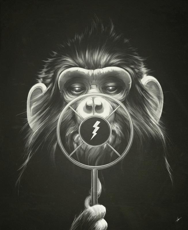 ilustraciones mono radio