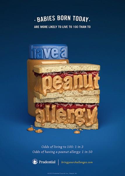 Ilustraciones tipográficas para Prudentials alergias